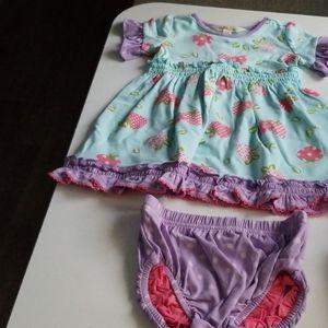 Matilda Jane 6-12 mos Berry Dress NWT